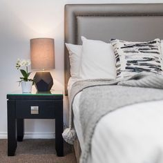 """Commercial Fabric/WallCovering on Instagram: """"Who's hoping for a sleep in this weekend?! We'd like one here!👌🏻Hotel bedroom done right with custom furniture and fit-out by…"""""""