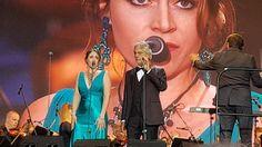 Alessandra Marianelli with Andrea Bocelli. La Traviata-Brindisi Szczecin  05.08.2017
