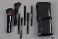 7pcs pinceles de maquillaje portátil profesionales componen cepillos envío Cepillos cosméticos Bag + Negro gratuito