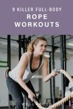 9 killer full-body workouts using the most underrated thing at the gym - battle rope workout - Rope Training, Strength Training, Battle Rope Workout, Pregnancy Workout, Pregnancy Fitness, Battle Ropes, Fun Workouts, Body Workouts, Workout Routines