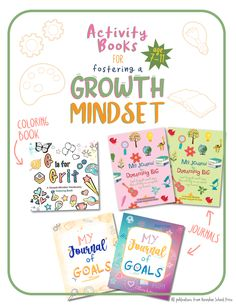 Raising a child is self-reliant, confident, and that can adapt to new situations is so important. These are great journals and activity books to help introduce the concept of a growth mindset to your children. The fun activities encourage kids to understand the difference between fixed and flexible mindsets, and show them that positive thinking, and an elastic brain, can help them achieve their goals. #growthmindset #growthmindsetactivities #upperelementary Growth Mindset Book, Growth Mindset Activities, Book Activities, Activity Books, My Journal, Upper Elementary, Positive Attitude, Life Skills, Teaching Kids