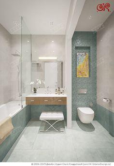 Дизайн бирюзовой ванной комнаты в современном стиле. Фото 2015 on Дизайн интерьера квартир, фото 2015-2016 | Дизайн-студия Ольги Кондратовой  http://www.ok-interiordesign.ru/wordpress/wp-content/gallery/bathdroom-interior-design-3d/dizayn-vannoy-09_0.jpg