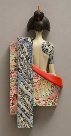 RevealBy John MorrisTimber, Japanese Chiyogami paper, paint
