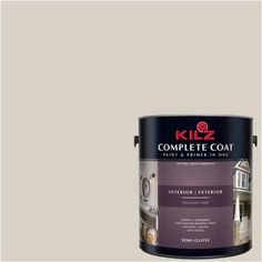 Kilz Complete Coat Interior/Exterior Paint & Primer in One #LK210 Starched Linen, 1 gal, Flat, Beige