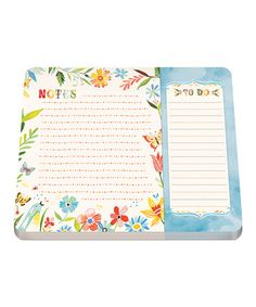 Look what I found on #zulily! Happy Day Two-Section Notepad #zulilyfinds