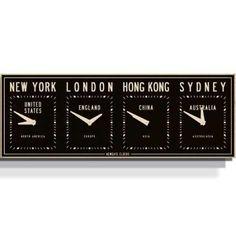 Fleet Street Timezone Clock - hardtofind.