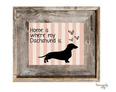 Dachshund Art Print 8x10 Custom Silhouette Art by sincerelyally, $14.00