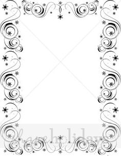 Fancy Page Borders | Fancy Snow Border | Christmas Borders