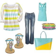 don't care for the horizontal stripes, but my new found love this summer is yellow and teal!!!
