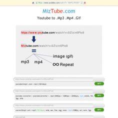 MizTube| Youtube mp3 - mp4 - gif | Converter | Download | Repeat | Visual.ly