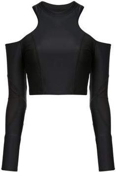 Cushnie et Ochs cold shoulder racer cut top Crop Top Outfits, Cute Casual Outfits, Pretty Outfits, Stylish Outfits, Beautiful Outfits, Fashion Outfits, Jugend Mode Outfits, Cute Crop Tops, Dolce & Gabbana