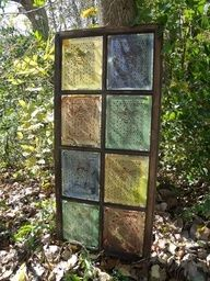 old windows ~ faux stained glass