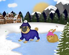 Winter holidays by Elena Pugger, via Behance