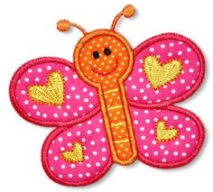 Spring Butterfly Applique 4x4 5x7 6x10