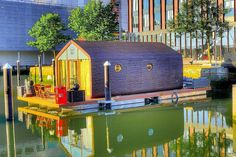 Floating House, Romantic Travel, Rotterdam, Tiny House, Dutch, Centre, Buildings, Boat, Houses