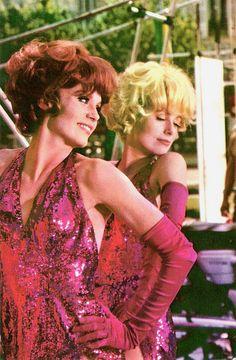 """Francoise Dorléac & Catherine Deneuve - """"Les Demoiselles de Rochefort"""" (1967) - Costume  designers : M.C. Fouquet & J. Moreau"""