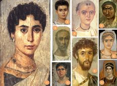 Some Fayum portraits, dating collectively to the period AD70-250. The numbers…