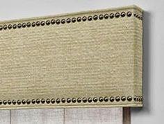 cornice boards with nailhead trim - Google Search