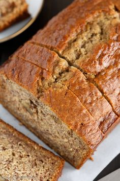 Best EVER Banana Bread recipe is the only one you will ever need! Brown butter, buttermilk, and roasted bananas give this bread the ultimate flavor and texture.