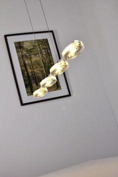 Design Pendelleuchte LED Hängelampe Leuchte Glas Pendellampe Chrom Hängeleuchte…