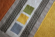 """Angela Walters' quilting on Emily Cier's quilt in """"Color, Block, Quilt"""". WANT that book!"""
