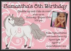 Horse Invitations Free Templates