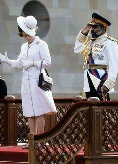 Queen Elizabeth II 1979 February 18 arrival ceremony in Oman