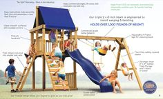 Play Tampa Bay provides kids playsets, swing sets, wooden swing sets and jungle gyms. Outdoor Wooden Swing, Outdoor Swing Sets, Backyard Swing Sets, Playhouse Outdoor, Wooden Swings, Backyard For Kids, Playhouse Plans, Backyard Ideas, Play Structures For Kids