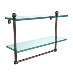 Allied Brass PR-2/16TB-VB 16-Inch by 5-Inch Double Glass Shelf -- Startling review available here  : Floating Shelves