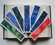 My handmade watercolor bookmarks   #watercolor #bookmarks #galaxy #handmade #books #reading