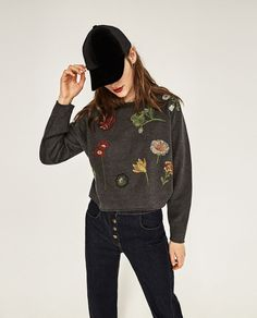 Image 2 of EMBROIDERED SWEATSHIRT from Zara