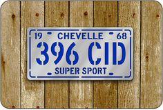 396 CID License Plate Sign