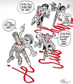 Illustration de P'tit Luc #jesuisCharlie