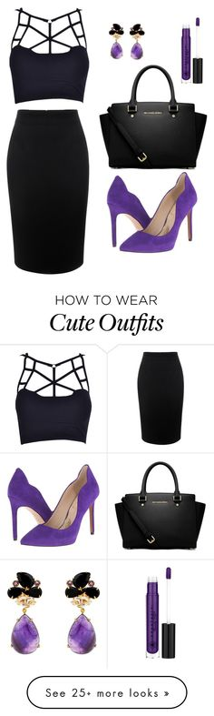 """""""My First Polyvore Outfit"""" by ioanna-gerou on Polyvore featuring Alexander McQueen, Jessica Simpson, MICHAEL Michael Kors and Anastasia Beverly Hills"""