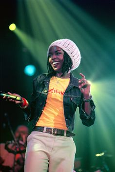 Lauryn Hill performs live onstage in Amsterdam, Netherlands on May 28, 1999.