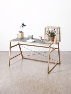 Un bureau design et écolo Winding Tower desk by Mieke Meijer