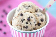 Chocolate Chunk Cookie Dough Frozen Yogurt. Ice cream maker NOT needed!