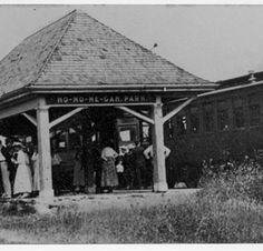Rockford and Interurban  Railway train stop, Hononegah Park, 1917 :: Images of Loves Park, Machesney Park and Roscoe