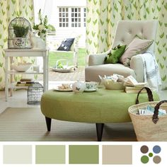 Living room curtains beige couch coffee tables Ideas for 2019 Living Room Green, Living Room Decor, Living Area, Living Rooms, Green Ottoman, Beige Couch, Country House Interior, Country Homes, Country Living