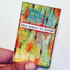 Thought for the weekend... #inspirationcards #weeklywisdom #artjournal #mixedmedia #art #atc #yoga #createeveryday