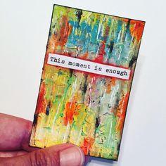 Thought for the weekend... #inspirationcards #weeklywisdom #artjournal #mixedmedia #art #atc #yoga #createeveryday