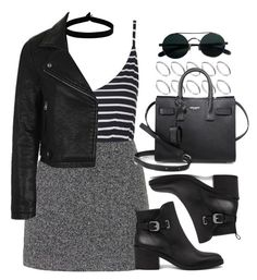 """Style #11414"" by vany-alvarado ❤ liked on Polyvore featuring The Flexx, Topshop, AllSaints, ASOS and Yves Saint Laurent"