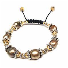 Two tone pearl bracelet... http://turchinjewelry.com