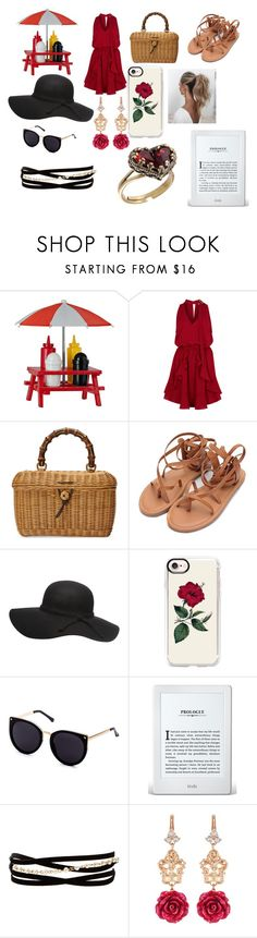 """Untitled #13"" by flamingos-and-unicorns ❤ liked on Polyvore featuring Finders Keepers, Gucci, Casetify, Love Couture, Kenneth Jay Lane, Dolce&Gabbana and Michal Negrin"