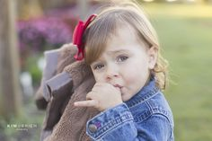 Two year old portrait sucking thumb. Raleigh lifestyle child photographer » Kim OBrien Photography