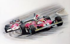 Hunt vs Lauda 1976 (McLaren M26 vs Ferrari 312 T2) by JamesWoodhead