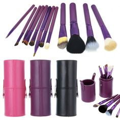 8.17$  Watch here - http://aliu1m.shopchina.info/go.php?t=32788448706 - 12 Pcs Women Professional Makeup Brush Set+Cup holder Cosmetic Brushes For Makeup Makeup Brush Tools Kits H7JP  #magazineonlinebeautiful