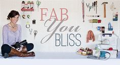 Fab You Bliss a super site that covers all the genres we want - DIY for crafts and home projects, style, home decorating, cooking and recipies along with a section on getting married - ideas, keeping it beautiful and frugal