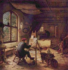 Adriaen van Ostade, Malarz w pracowni, 1663
