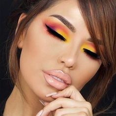 Loving this look by @iluvsarahii using Buff Lip Crème. Gloss: Mac Mariah Dream Lover. Eyes: Smashbox Bold Palette, and Tarte Black Clay Liner. #jouercosmetics